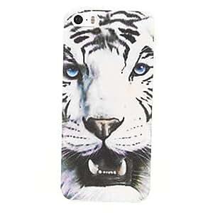 GDW Hard Case White Tiger Design PC para el iPhone 5/5S