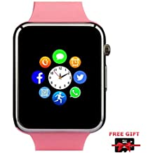 Smart Watch Bluetooth Smartwatch with Pedometer Camera Music Player Call Message Notification Compatible for Android and iPhone (Partial Functions) for Men Women Kids (Pink)