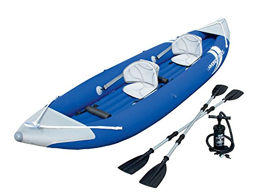 HydroForce Bolt X2 Inflatable Kayak w/ Oars and Pump