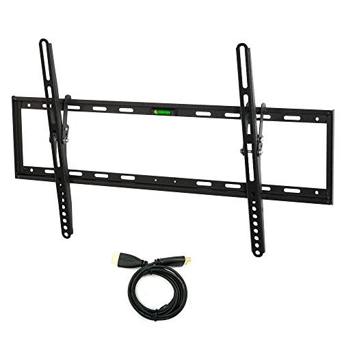 Atron Vision AM-3270TA TV Wall Mount Tilting Bracket for Most 32-70 Inch LED, LCD and Plasma TVs up to VESA 600 x 400mm and 99 LBS Loading Capacity, HDMI Cable and Built-in Level