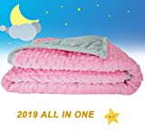 "Oileus Weighted Blanket for Kids 2.0 Version Newest One Piece Design Minky Dot-36""x 48"",5lbs for Little Kids- Children Heavy Blanket for Boys and Girls 40-60 lbs"