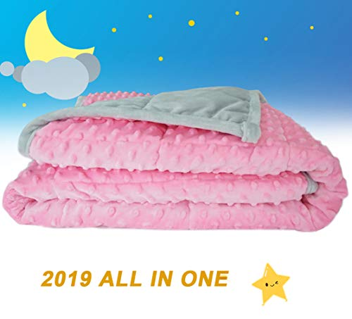 Weighted Blanket for Kids 2.0 Version Newest One Piece Design Minky Dot-40