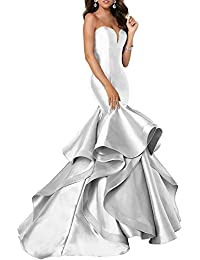 Women s Sweetheart Mermaid Prom Evening Party Dresses Tiered FormalSA51 f8fd90111f88