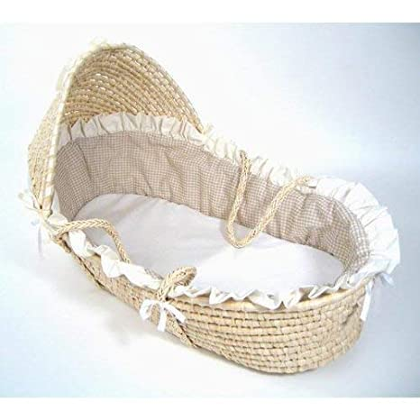 and Pad Sheet Hooded Baby Moses Basket with Liner