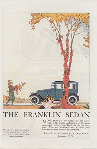 More miles per day, more days per year Franklin Sedan ad 1920 ATL