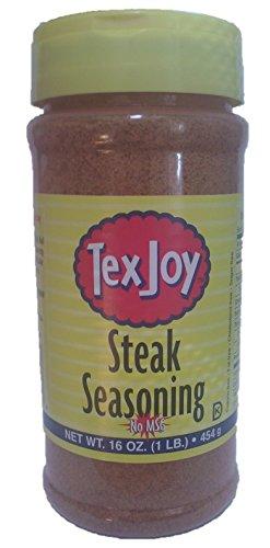 Texjoy Original Steak Seasoning No MSG 16 Oz (Pack of 2)
