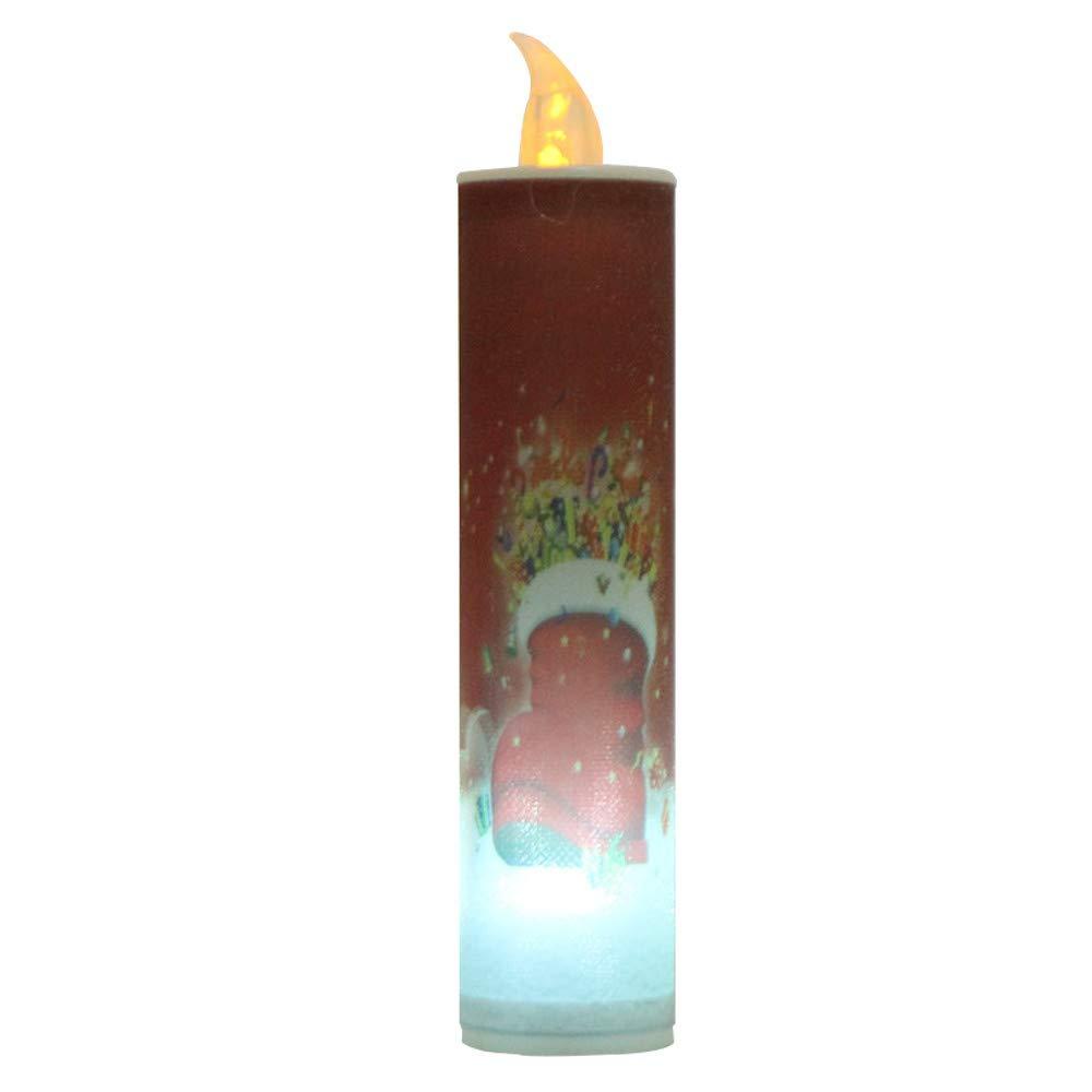 Tuu LED Candle Light Christmas Background Atmosphere Decorative Lamp Lantern (D)