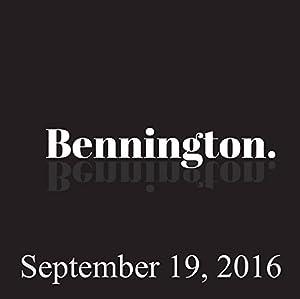 Bennington, September 19, 2016 Radio/TV Program