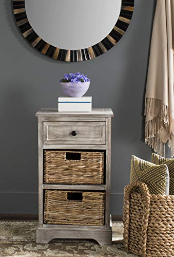 Home Accents End Table - Safavieh American Homes Collection Carrie White Washed Side Table