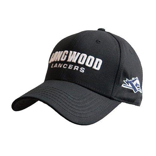 瞳実装するしおれたLongwoodブラックHeavyweight Twill Proスタイル帽子' Longwood Lancers Wordmark '