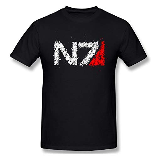 MoKinT Men's Mass Effect N7 Logo Fashion T-Shirt Black, used for sale  Delivered anywhere in USA