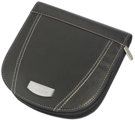 Refillable Cd Holder - Visol Products Roadtrip Black Synthetic Leather CD/DVD Case