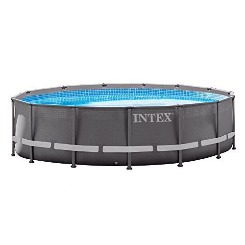 (Intex 14ft X 42in Ultra Frame Pool Set with Filter Pump, Ladder, Ground Cloth & Pool Cover)