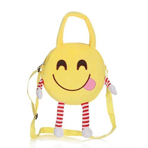 Cute School Bag Emoji Emoticon Handbag Child Shoulder Bags Backpack Satchel Rucksack - Sunglasses Crown Deluxe