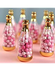 Kate Aspen 18187GD Gold Metallic Champagne Bottle Container (Set of 12) DIY Favor One Size Clear