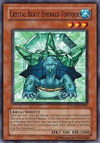 Yu-Gi-Oh! - Crystal Beast Emerald Tortoise (FOTB-EN003) - Force of the Breaker - 1st Edition - - Tortoise Emerald