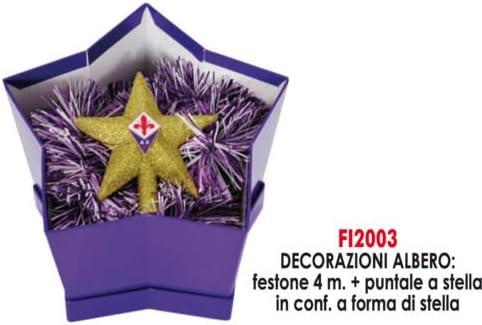 Giemme Articles Promotionnels Pique-Guirlande et Cadeau de Noel Fiorentina Foot Produit Officiel