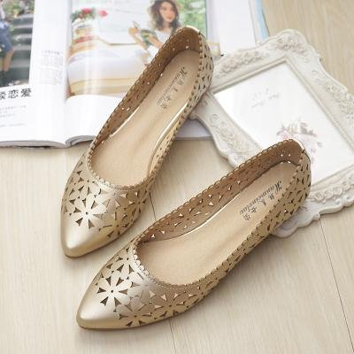 &qq Sandalias huecas, zapatos con punta plana, zapatos transpirables, zapatos de moda 43