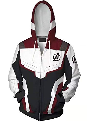 ROCK 4R 1, LLC Unisex Superhero Hoodie Adult Sweatshirt Jacket Halloween Cospaly Costumes (Mens-Small, Zipper) ()