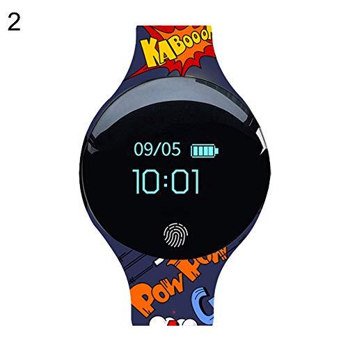 TYewa98556 FashionSports Smart Bluetooth Touch Screen Wrist Watch Call Reminder Pedometer Bracelet - 2#