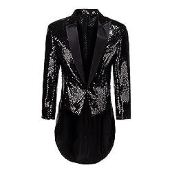 Men's Colorful Sequins Tailcoat Tuxedo