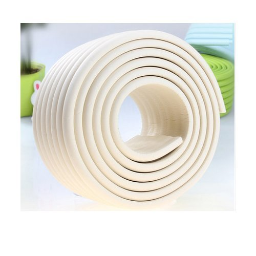 Foam Wall Protector - AUCH Extra Dense Furniture Table Wall Edge Protectors Foam Baby Safety Bumper Guard Protector, 2 Meters (6.5 Ft) Long 8 cm Wide