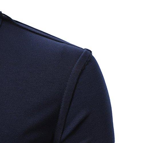 Moda Color Puro De Otoño Conjunto De Manga Larga Suelta Sudaderas Top Blusa Hombre De Moda Correr Deporte Thin Sudaderas Ejercicio Manga Larga Top Sudaderas ...