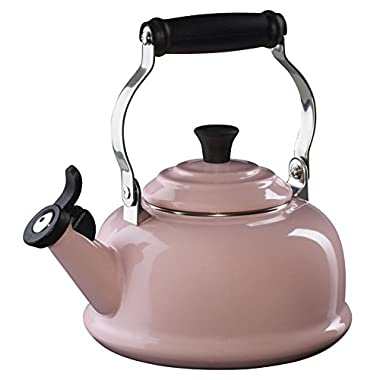 Le Creuset Enamel on Steel Whistling Tea Kettle, 1-4/5-Quart, Hibiscus