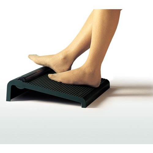 ESD Footrest with fluted foot exercise roller