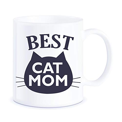 Funny Cat Gifts Best Cat Mom Ever Cat Memes for Catffeinated Feline Pet Owner Cats Lovers Purrrfect Christmas Mothers Day Novelty Gift Ceramic Coffee Mug Tea Cup