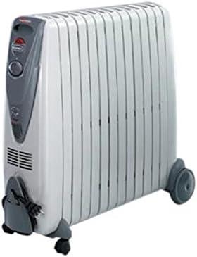 DeLonghi V551225 2500 W acero inoxidable//pl/ástico gris claro Radiador de aceite