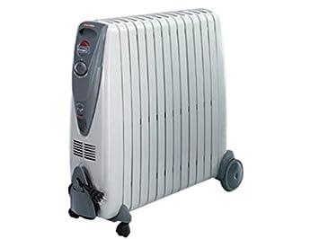 DELONGHI KG011225R - Radiador de Aceite rápido de 2500 W, Color Gris (Reacondicionado Certificado): Amazon.es: Hogar