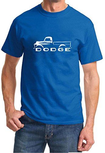 1948-53 Dodge B-Series Pickup Truck Classic Outline Design Tshirt 3XL royal