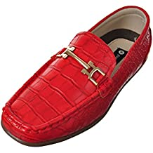 Easy Strider Boys' Faux Snakeskin Loafers