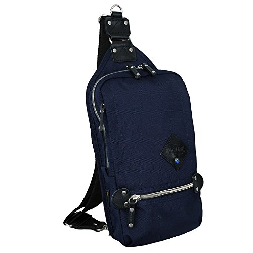 Harvest Label Urban Sling Mono Sling Travel Daypack Backpack Cordura (Navy) -