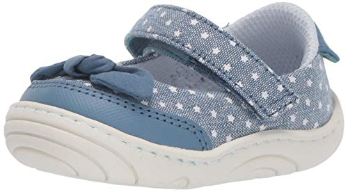 Stride Rite Lily Baby/Toddler Girl's Mary Jane Flat, Navy, 3.5 M US Infant ()