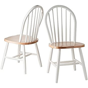 Amazoncom Winsome Wood Windsor Chair in Natural and White