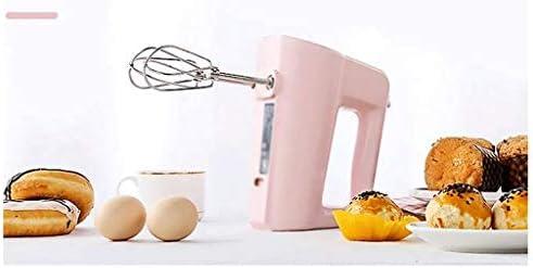 XXDTG Rose Cinq Vitesses à Double Tige Inoxydable Steel Design électrique des ménages Petit Handheld Eggbeater