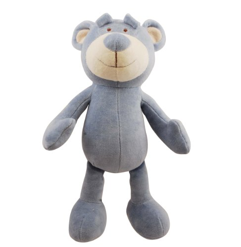 Fido Organic Cotton Simply - Simply Fido Wally 10-Inch Blue Bear Squeakers Dog Toy