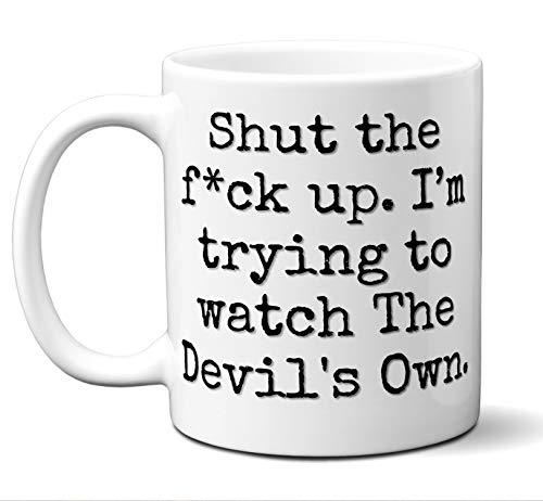 The Devil's Own Gift Mug. Funny Parody Movie Lover Fan