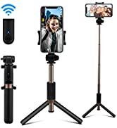 AFAITH Selfie Stick Bluetooth, Extendable Selfie Stick Tripod Stand with Wireless Remote Shutter ...