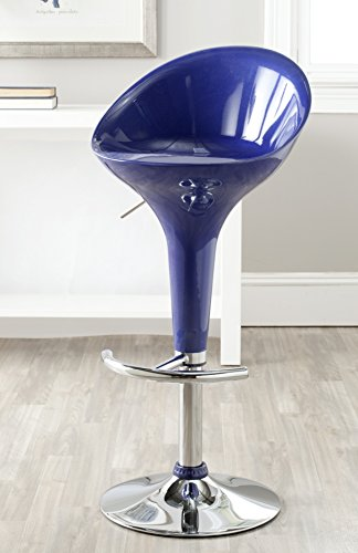 Safavieh Home Collection Zorab Navy Blue Adjustable Swivel Gas Lift 23.6-32.5-inch Bar Stool