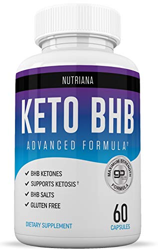 Nutriana Keto Diet BHB Pills - Ketogenic Keto Pills for Women and Men - Keto Supplement BHB Salts - Ketosis Keto Supplement Exogenous Ketones - Keto Pills 60 Capsules (The Best Weight Loss Pills 2019)