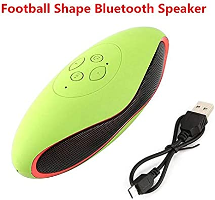RONSHIN Portable Bluetooth Speakers,Mini Football Shape Bluetooth Speaker Portable Wireless Speaker Sound System 3D Stereo Music Surround TF USB Super Bass Speaker White