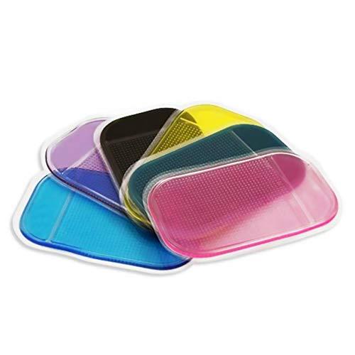 Ndier 6 alfombrillas antideslizantes de latex para coche, para sujetar el movil, las gafas de sol, las llaves y el tamano S, color aleatorio