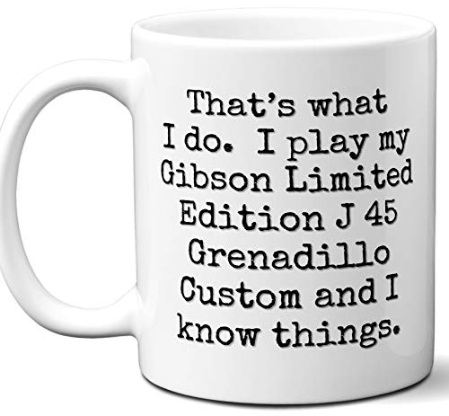 - Guitar Gifts Mug. Gibson Limited Edition J 45 Grenadillo Custom Guitar Players Lover Accessories Music Teacher Lover Him Her Funny Dad Men Women Card Pick Musician Acoustic Unique