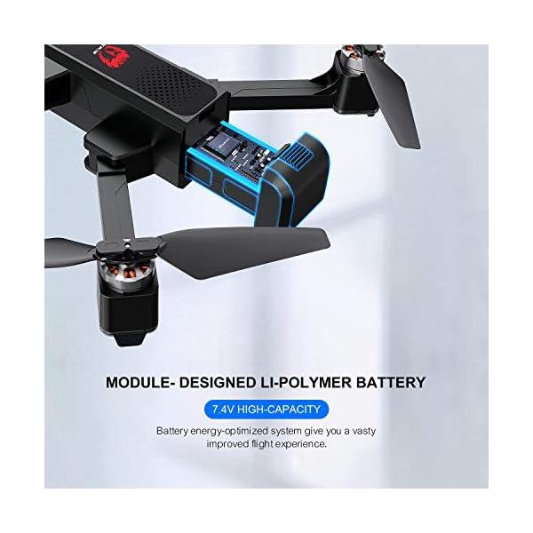 EACHINE EX3 Drone 2K Telecamera GPS Brushless 5G WiFi Lente Grandangolo Pieghevole Drone App Controllo FPV RTF 5 spesavip