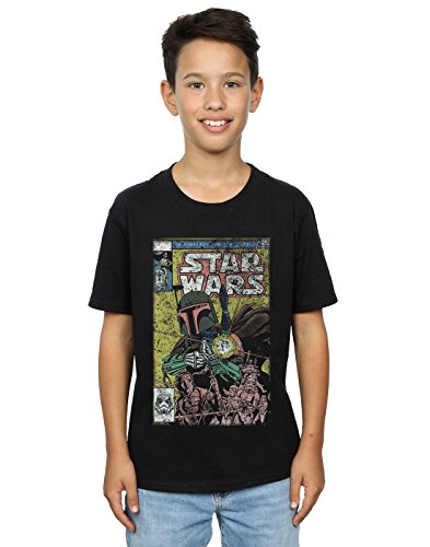Star Wars Boys Boba Fett Comic T-Shirt 12-13 Years Black