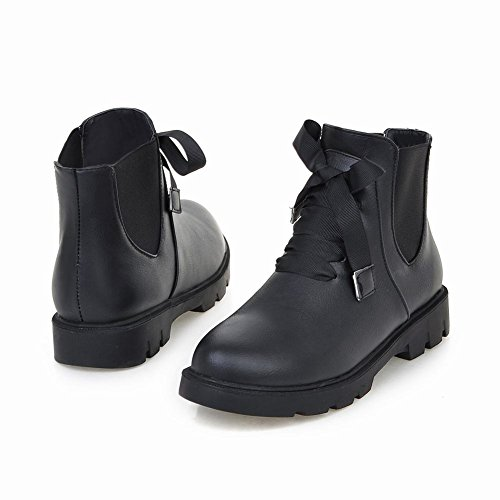 Latasa Femmes Mode Plat Chelsea Automne Bottines Noir
