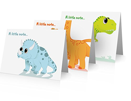 Dinosaur Note Cards (24 Foldover Cards and - Note Dinosaur